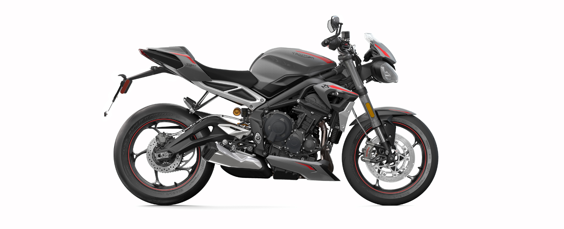 Triumph Street Triple RS side view with white background