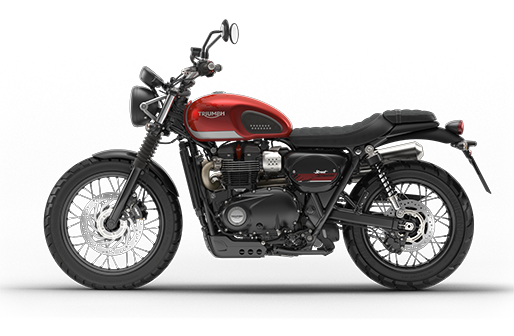Triumph Bonneville in Korosi Red and Frozen Silver