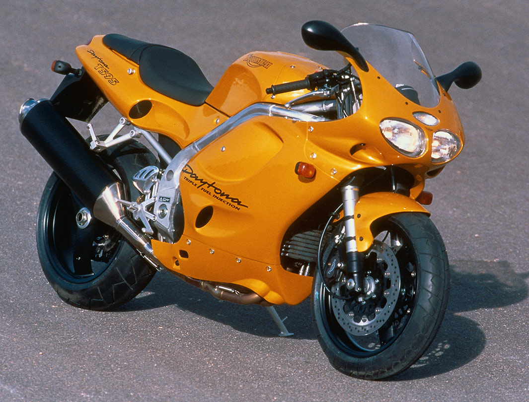 Yellow Triumph Daytona