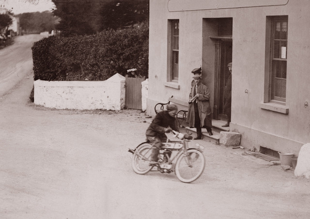 1907 Frank Hulbert at Ballacraine: he finished 3rd