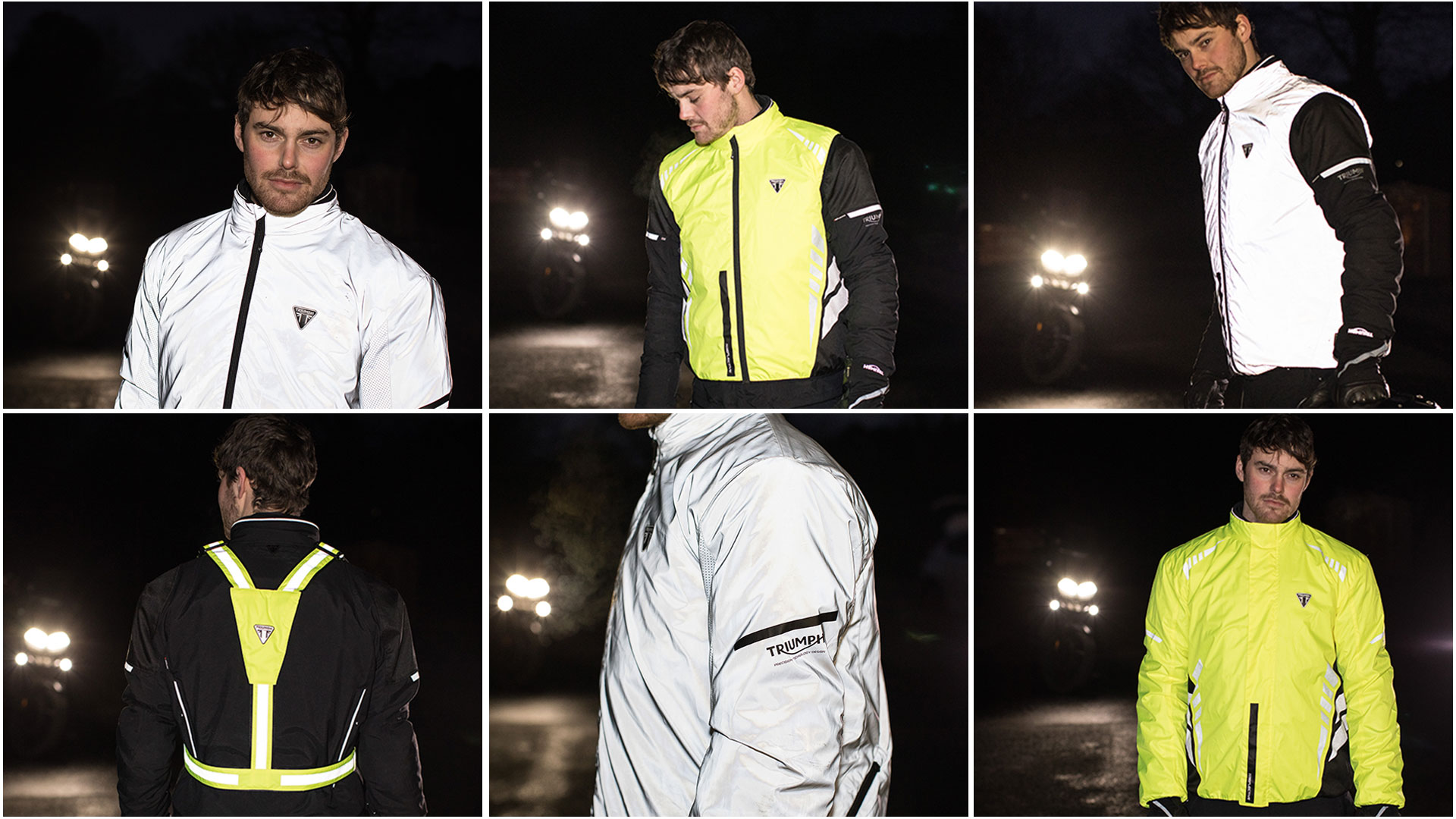 Triumph Riding Essentials Hi Vis Reflective Model Shots