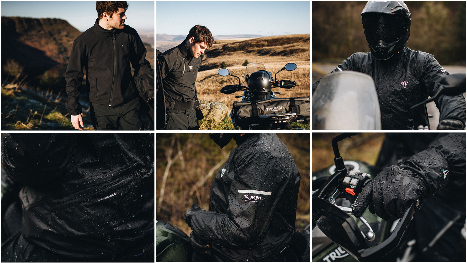 Triumph Riding Essentials Storm Guard Baselayer Model Shots