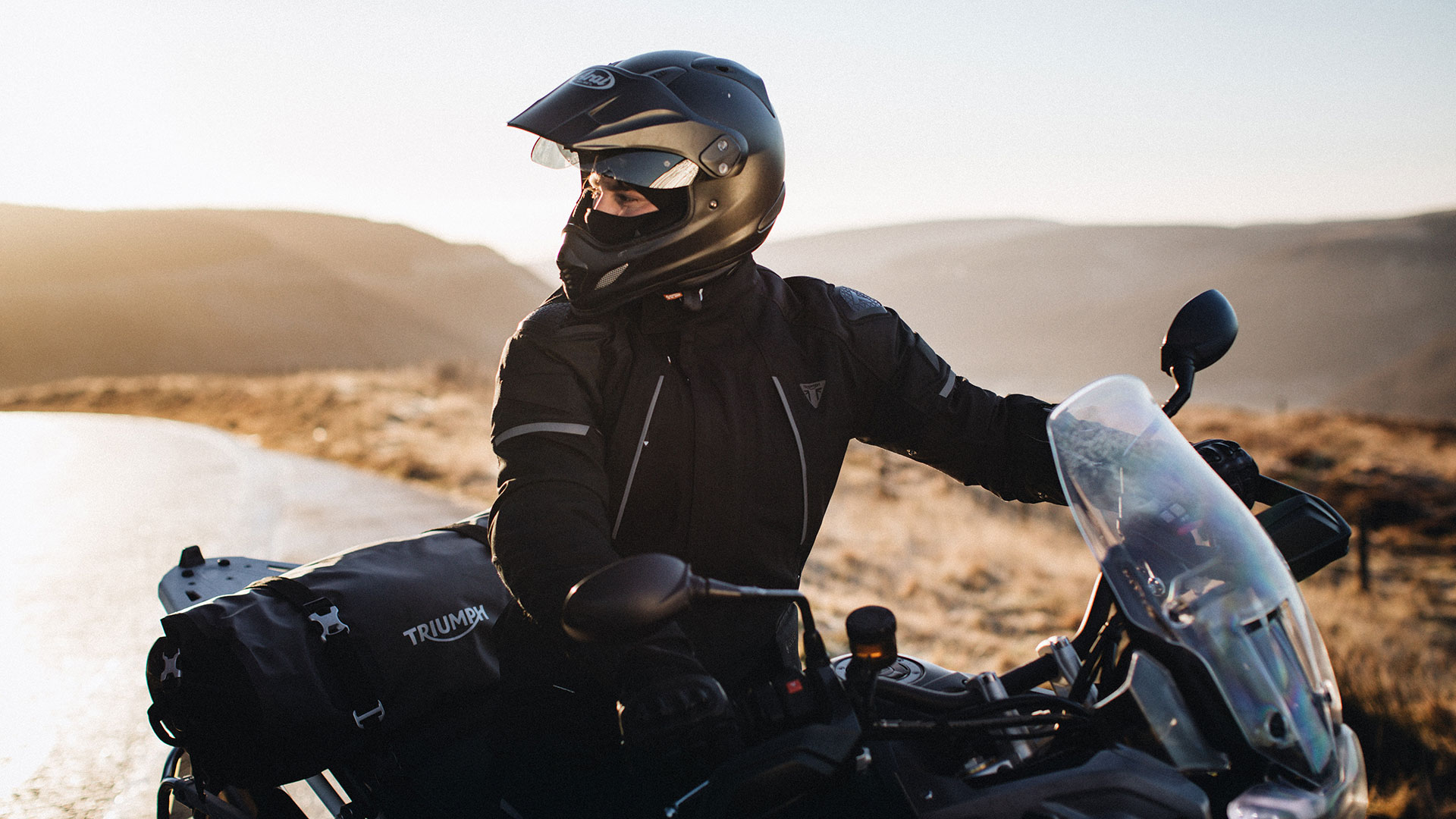 Triumph Motorcycles Adventure Touring Clothing Location Model Alder Jacket & Jean