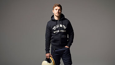 Triumph Motorcycles Clothing Casual Model Lavenham Sweatshirt Studio Shot
