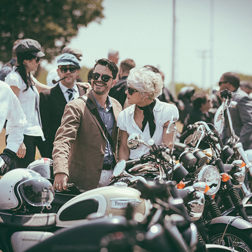 Riders happy and ready to begin their Distinguished Gentleman's Ride