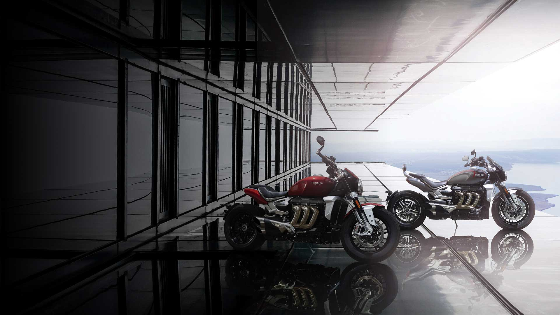 Out of this world Triumph Rocket R and Rocket GT shot