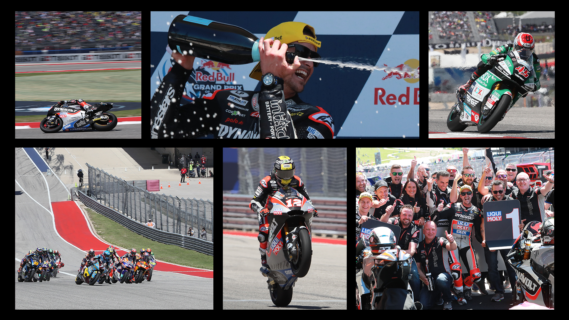 Highlights from round 3 of the 2019 Moto2 championship in Texas featuring race winner Thomas Luthi
