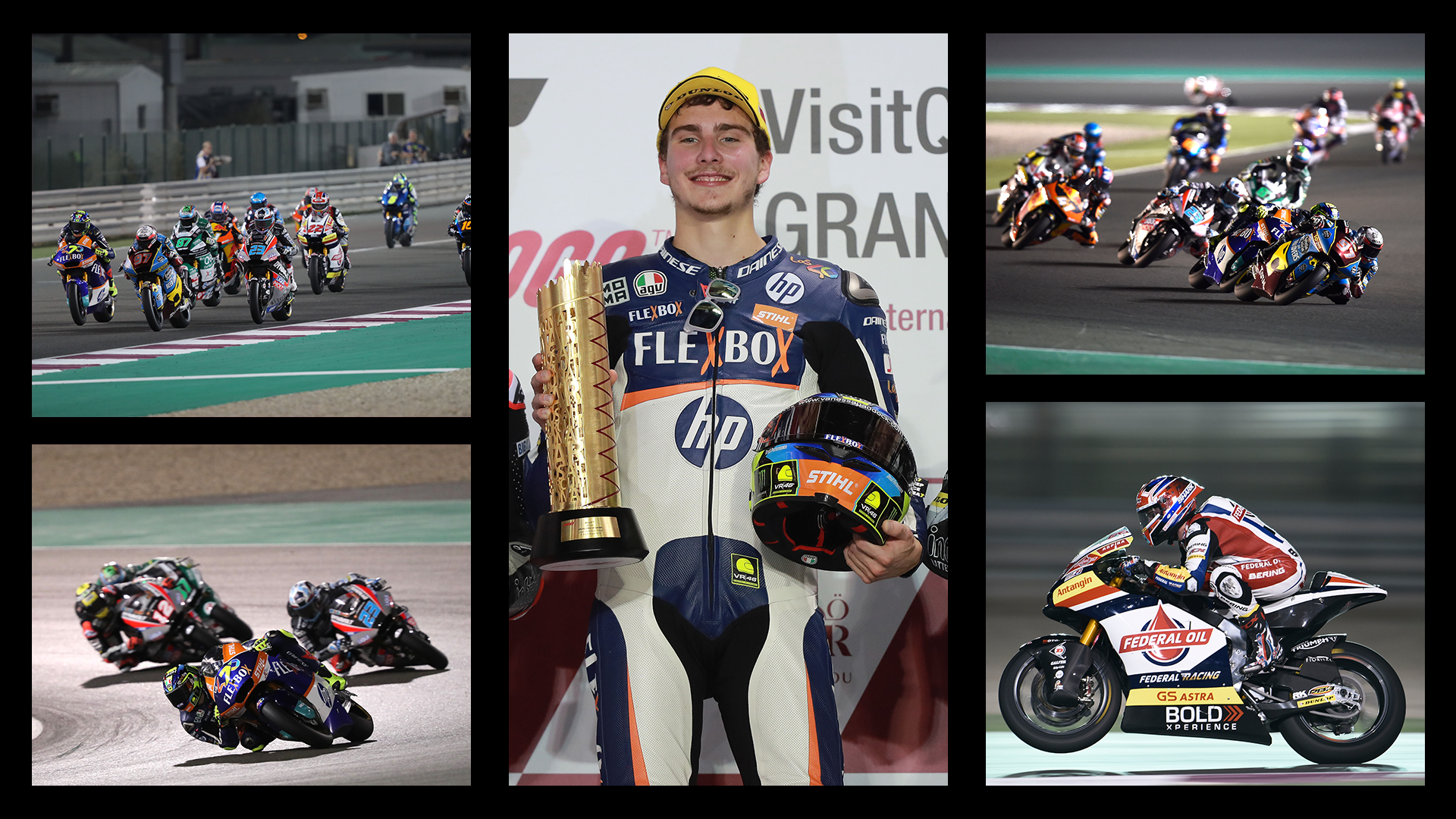 Moto2 Qatar 2019 Race highlights featuring race winner Lorenzo Baldassarri
