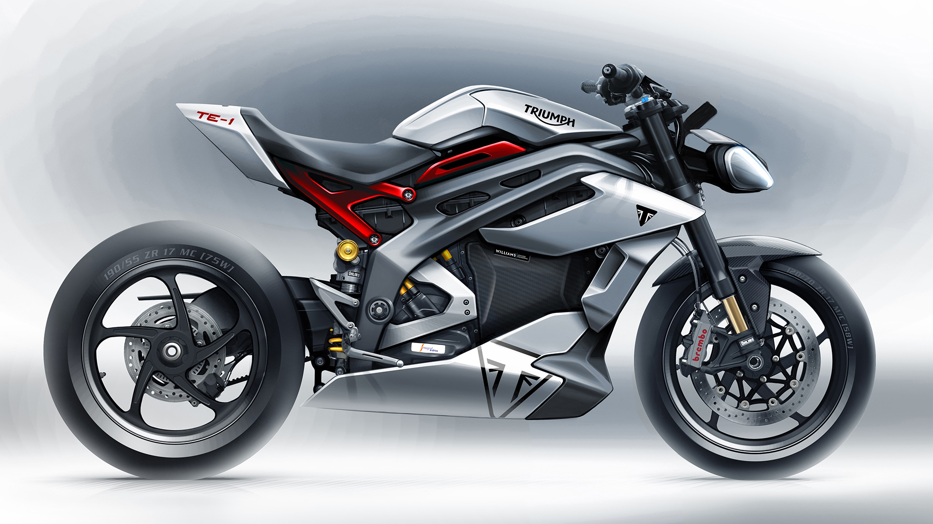 Project Triumph TE1 - Prototype electric motorcycle sketches
