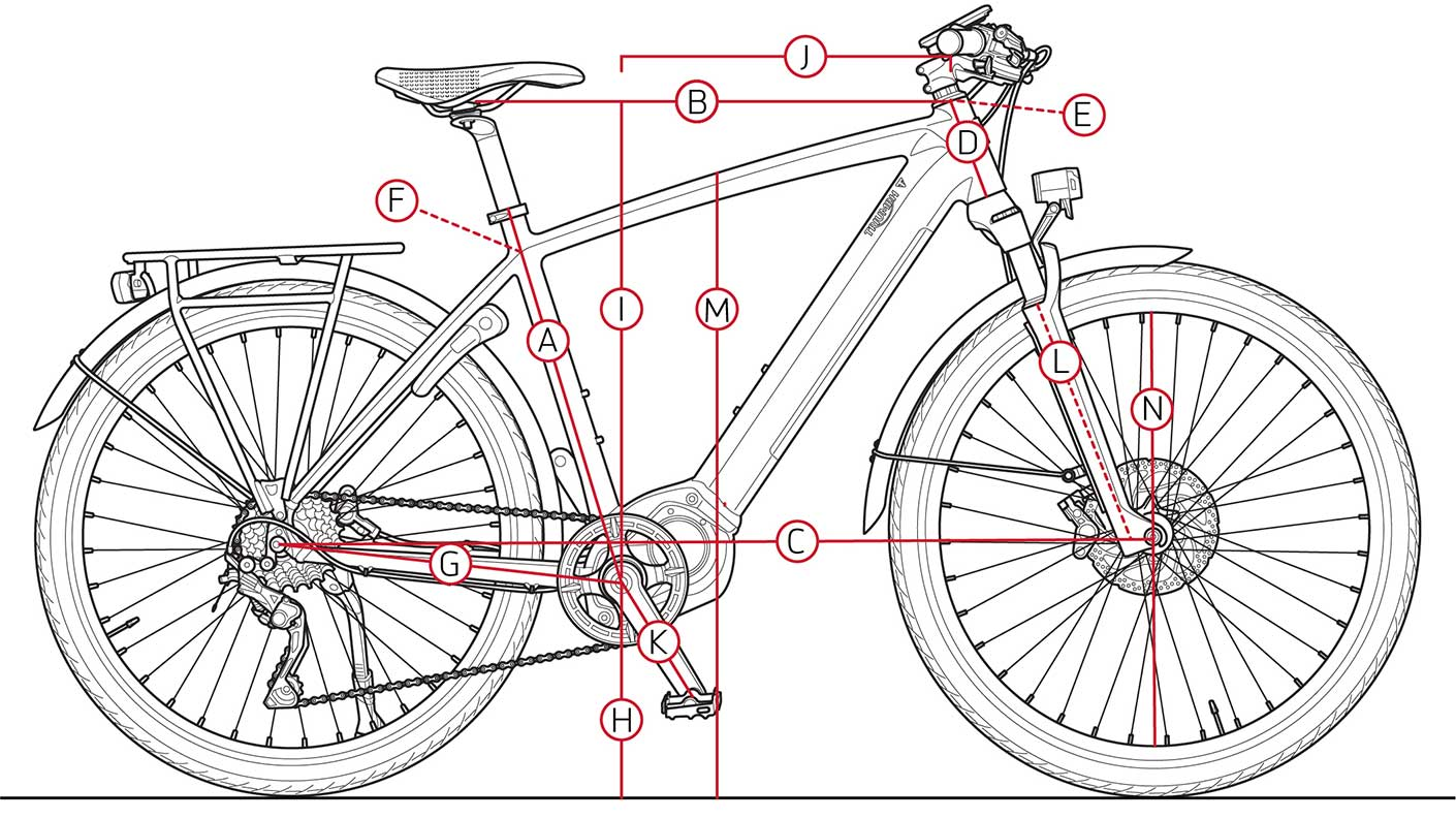 Triumph Trekker Geometry Illustration