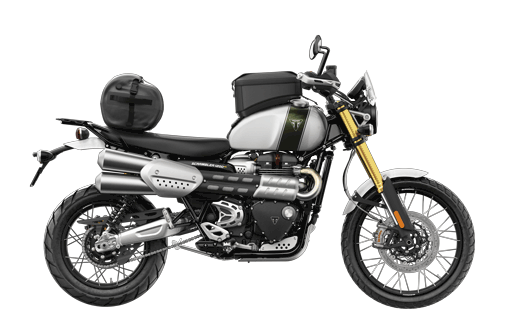 Triumph Scrambler 1200 XE with accessories