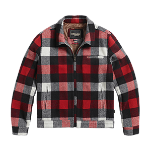 Avenham Quilted Checked Wool Jacket Red