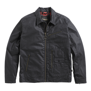 Triumph lifestyle, deacon wax jacket, front