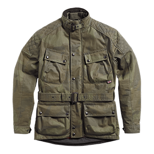 Triumph lifestyle, garstang casual waxed jacket, camo, front