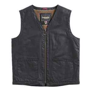 Clayton Casual Waxed Vest Black