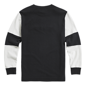 Imperial Double Pique Long Sleeve Top Black
