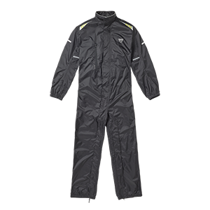 Triumph AW20 packable Rain suit, black, flat shot front