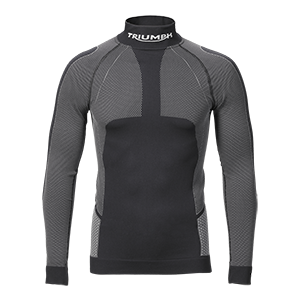 Triumph AW20 Long sleeve base layer, black/grey, flat shot front