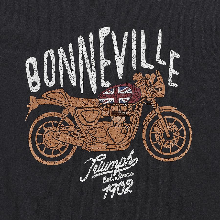 Bute Ladies Bonneville Print T-Shirt Jet Black