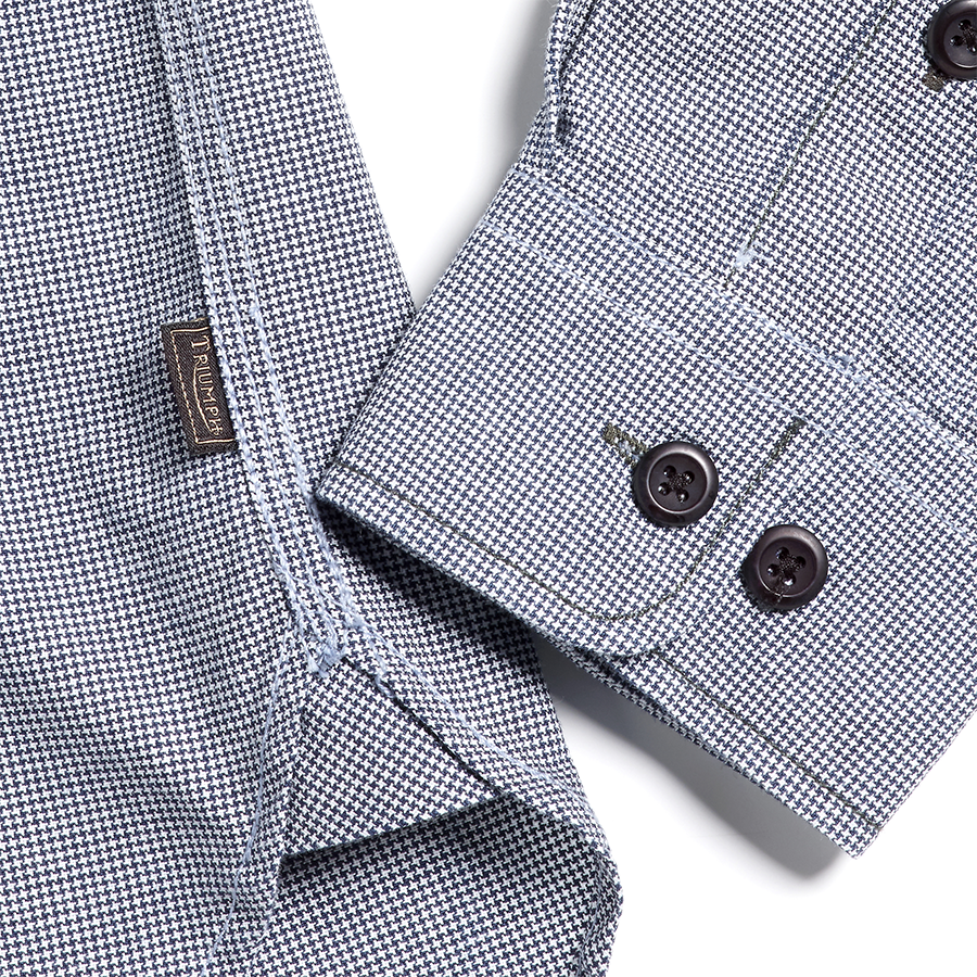 Shock Absorber Dogtooth Worker Shirt Chambray
