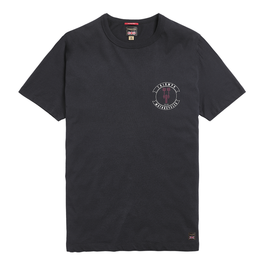 Brake Disc Printed Crew T-Shirt Black