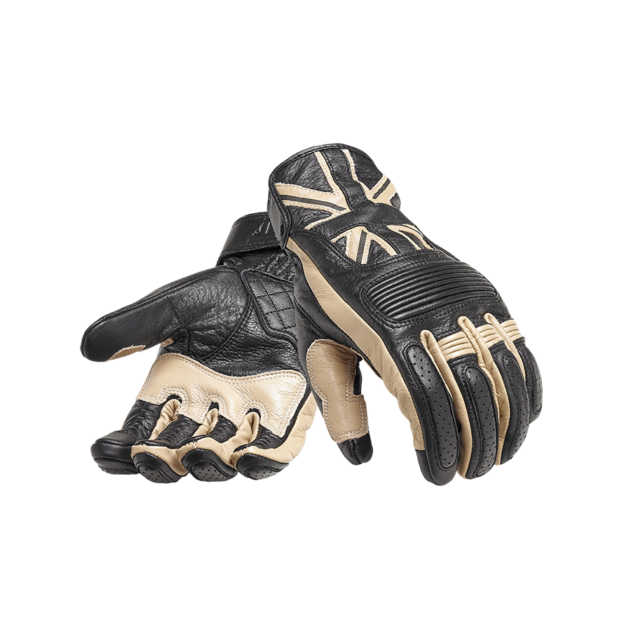 Mono Flag Leather Motorcycle Gloves