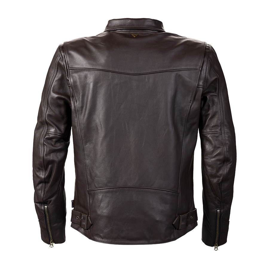 Vance Brown Leather Motorcycle Jacket