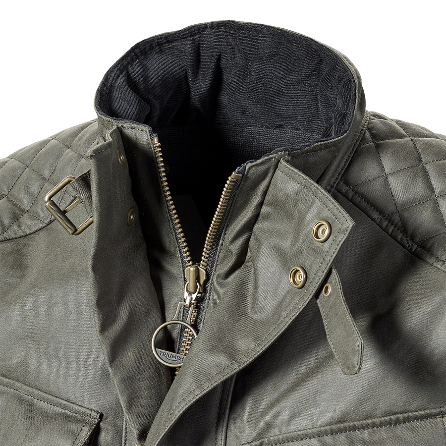 Beck 2 Khaki Wax Cotton Motorcycle Jacket