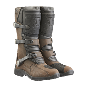 Dirt Brown Leather Motorcycle Boots