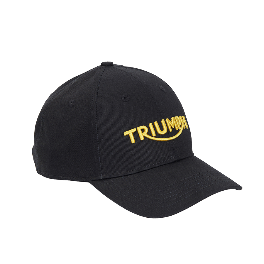 Black Cap with Gold Logo