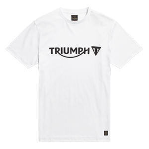 MTSS20035 White T-shirt with Black Triumph Motorcycle Logo