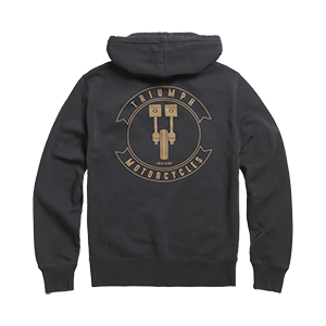 Shift Head Zip Through Hoody Black
