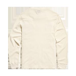 Clutch Waffle Crew Long Sleeve T-Shirt Cream