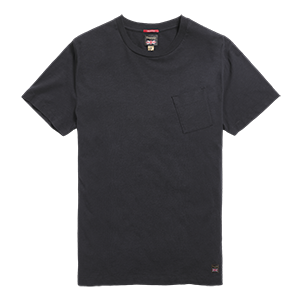Spark Plug Slub Pocket T-Shirt Black