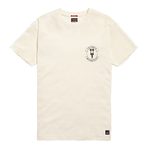 Cable Waffle Crew T-Shirt Cream