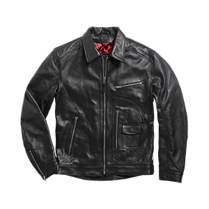 Deacon Classic D Pocket Leather Jacket Black