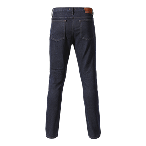 MDJS20200 Skinny Leg Blue Denim Jeans With Triumph Motorcycle Tag
