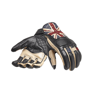 Flag Leather Motorcycle Gloves