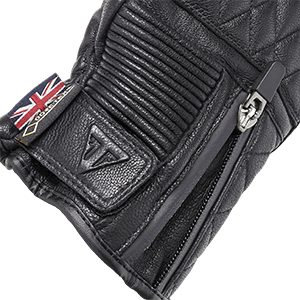 Raven GTX Black Leather Motorcycle Gloves Black