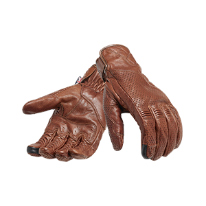 Banner Brown Leather Motorcycle Gloves