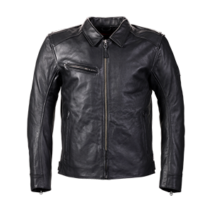 Vance Black Leather Motorcycle Jacket