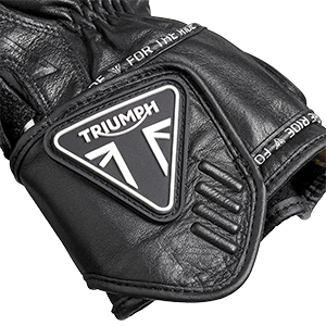 Triple Black Leather Motorcycle Gloves