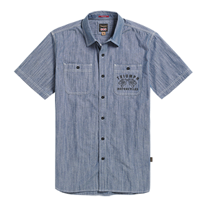 Peckleton Short Sleeve Chambray Shirt Blue
