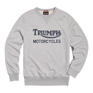 Triumph Radial sweat, grey, front, flat shot, thumbnail