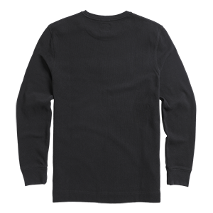 Tate Double Pique Long Sleeve Top Black