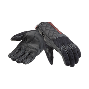 Triumph Motorcycle Modern Classic Clothing Sulby Mesh Gloves Black Front Flat Shot