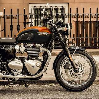 Bonneville T120 in Storm Grey & Baja Orange