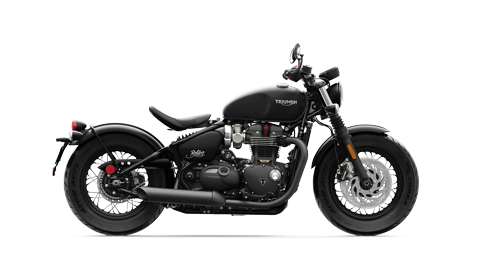 Triumph Bonneville Bobber right hand side shot