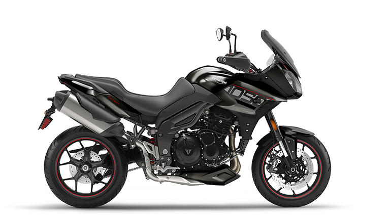 Right hand side CGI of the Triumph Tiger Sport in Storm grey colourway