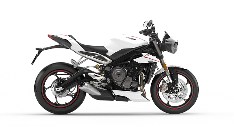 Street Triple RS in Crystal White